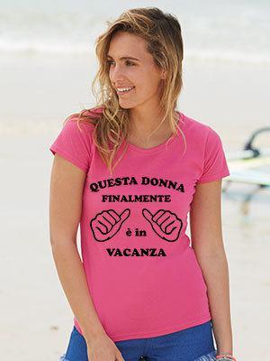 maglietta vacanza-ferie lei