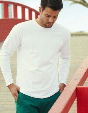 maglietta personalizzata uomo maniche lunghe bianca