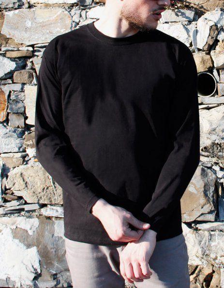 maglietta personalizzata uomo maniche lunghe nera