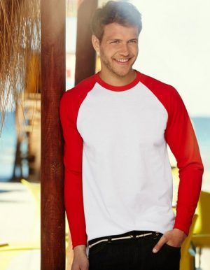 t-shirt uomo baseball maniche lunghe