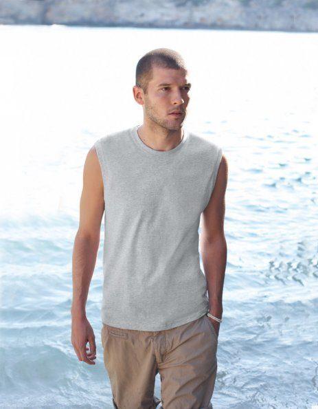 t-shirt uomo smanicata da personalizzare grigia