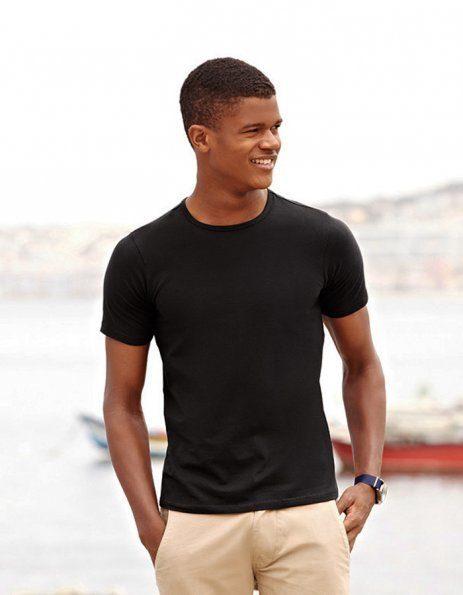 Stampa maglietta nera aderente personalizzata