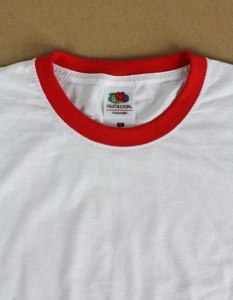 Personalizza T-shirt ringer Fruit of the Loom bordino colorato