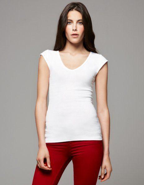Personalizza t-shirt donna scollo a V Bella