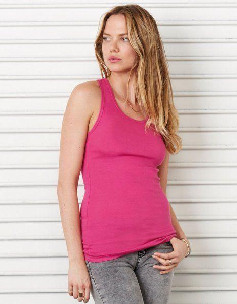 Canottiera donna personalizzata rosa lampone