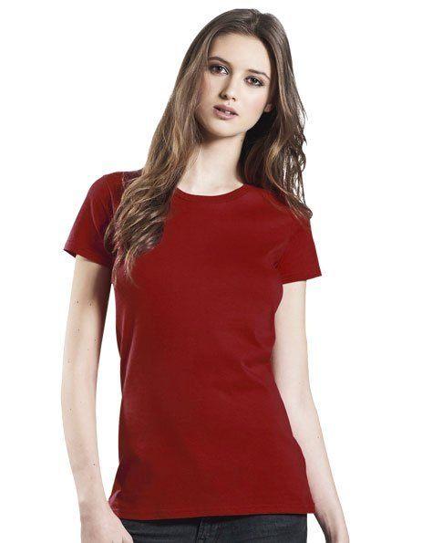 Personalizza t-shirt donna cotone bio rosso scuro
