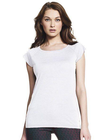 Stampa maglietta personalizzata donna in Bamboo bianca