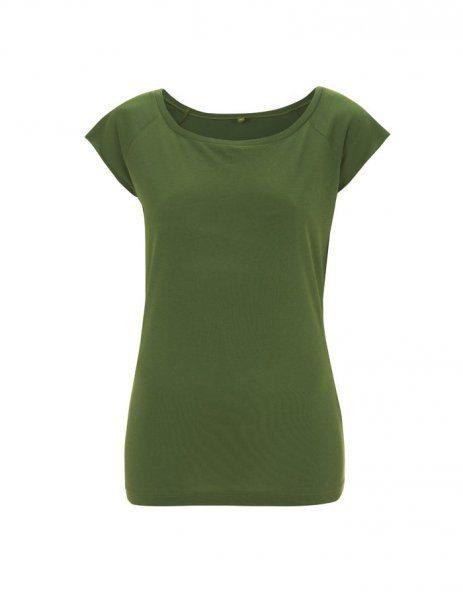 T-shirt Donna in Bamboo verde da personalizzare