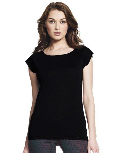 T-shirt Donna in Bamboo nera da personalizzare