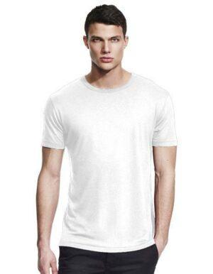 Maglietta personalizzata in Bamboo bianca per uomo