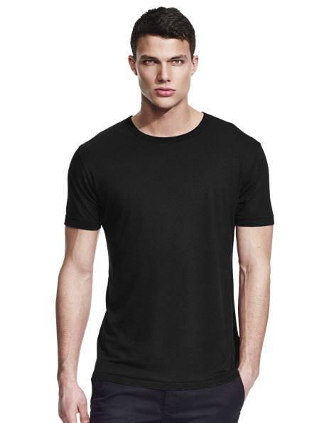 Personalizza maglietta in Bamboo nera per Uomo