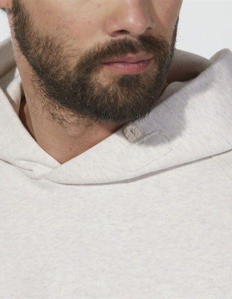 stampa felpa personalizzata bio con cappuccio crema