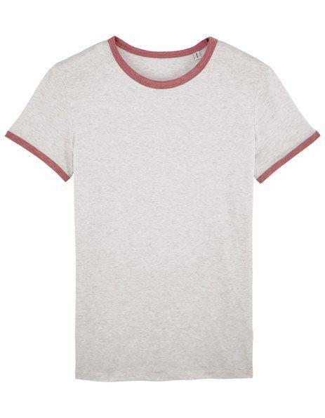 maglietta personalizzata donna bordini contrasto rosa