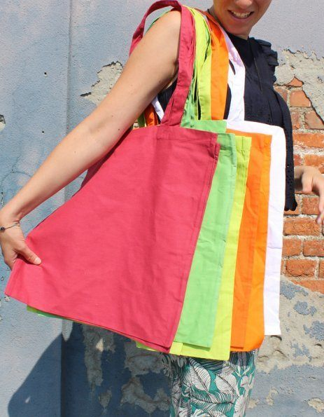 Colori borsa di cotone personalizzata