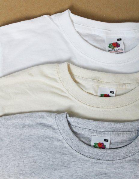 Colori maglietta uomo Fruit of the Loom bianca - sabbia - grigio