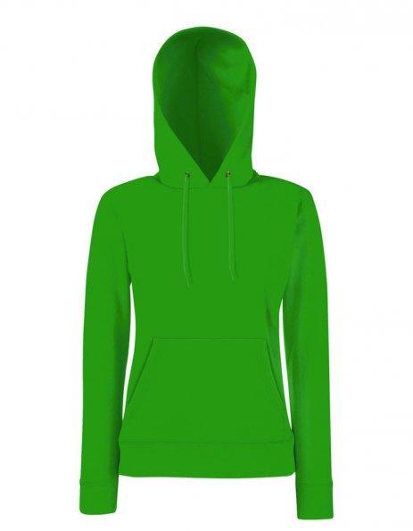 Felpa personalizzata verde Cappuccio Donna
