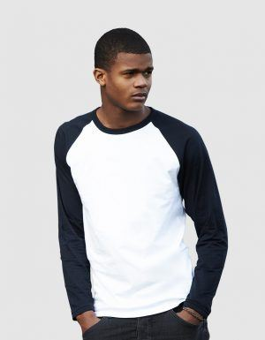 Personalizza t-shirt baseball maniche lunghe colorate