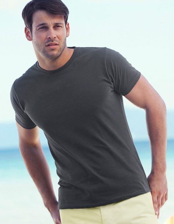 maglietta aderente grigia da uomo