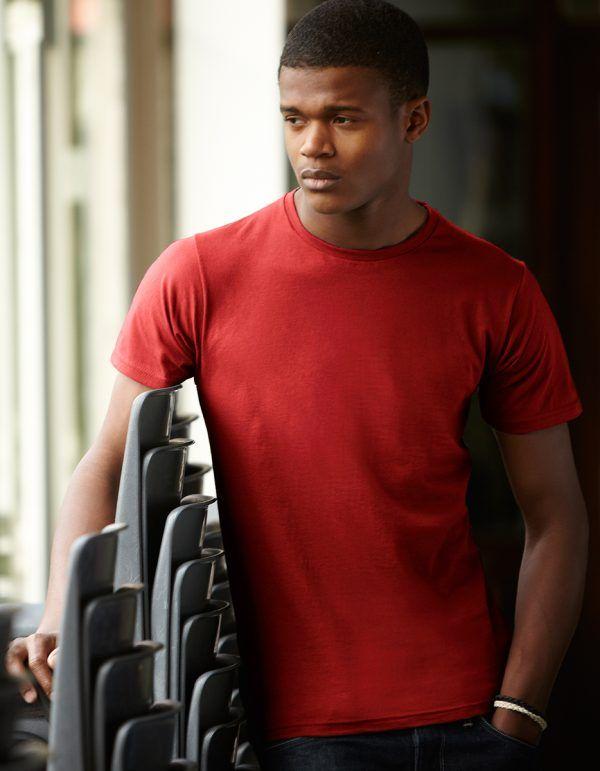 maglietta da uomo aderente rossa