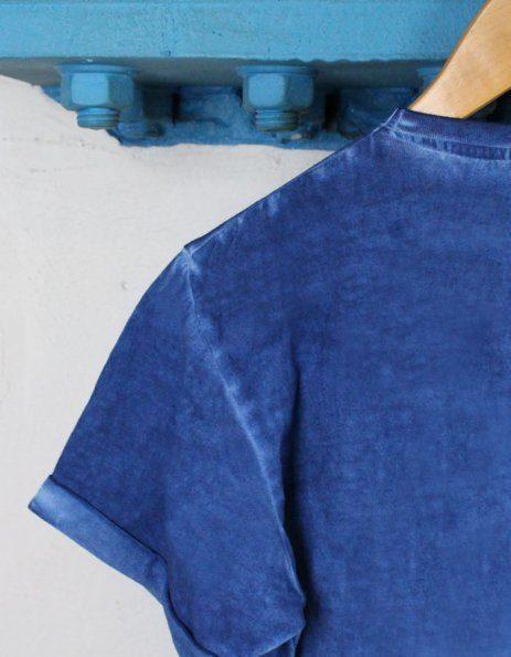 Maglietta denim blu acceso