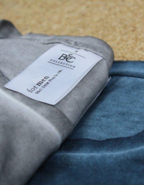 Maglietta denim uomo grigio o verde sfumato