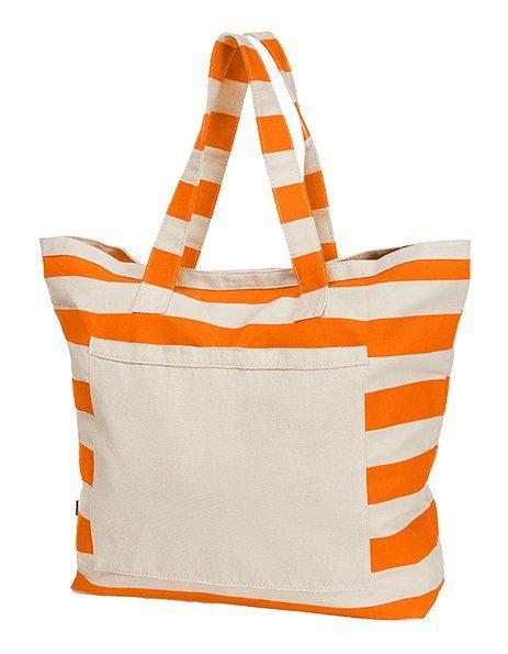 personalizza Borsa in cotone per il mare arancione