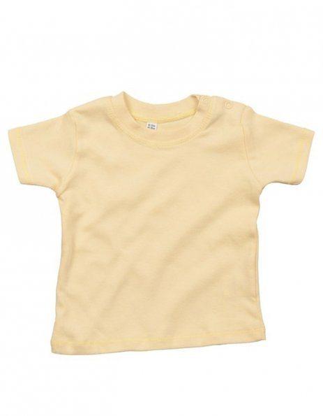 Personalizza maglietta baby giallo pastello con bottoncini laterali