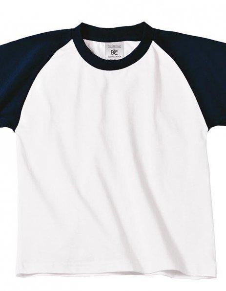 Personalizza maglietta bambino maniche colorate baseball