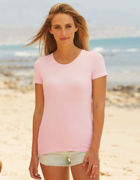 Personalizza t-shirt donna rosa Fruit of the Loom