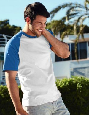 Stampa maglietta personalizzata uomo maniche colorate
