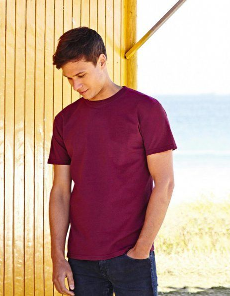T-shirt Fruit of the Loom bordeaux da personalizzare