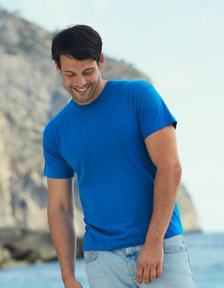 T-shirt uomo Fruit of the Loom blu royal da personalizzare