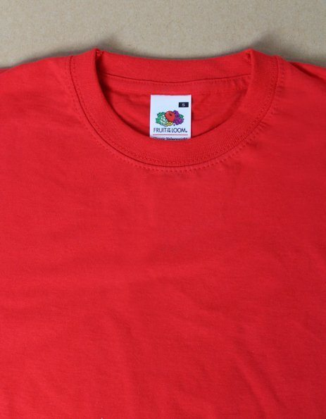 T-shirt uomo Valueweight Fruit of the Loom rossa