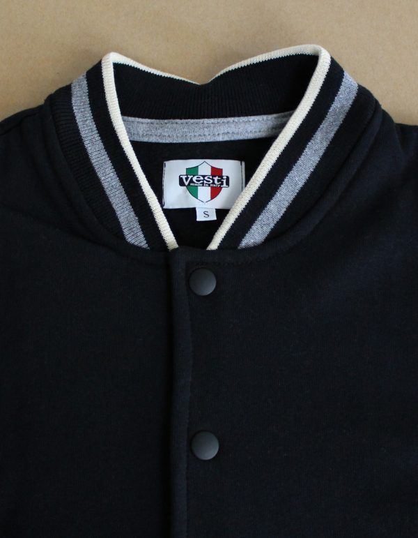 Felpa vesti jacket made in italy dettaglio