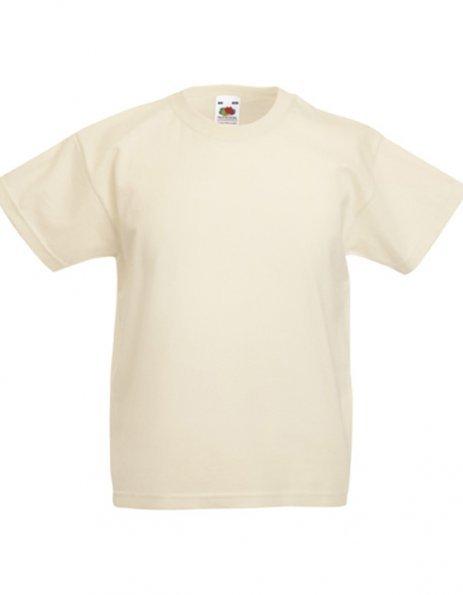 Personalizza maglietta colore sabbia - naturale bimbi Fruit of the loom