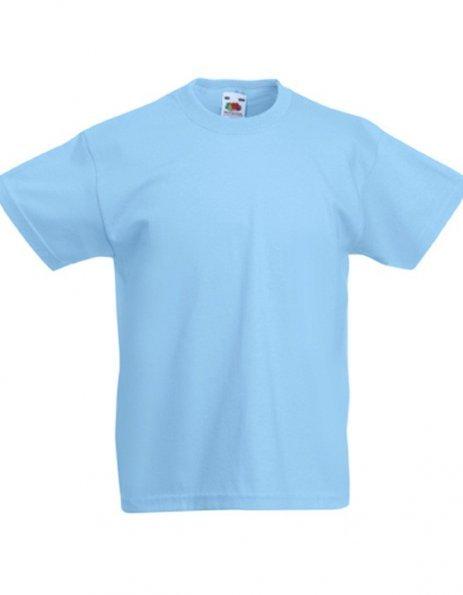 Personalizza maglietta bambino maniche corte azzurra