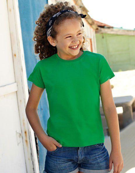 Personalizza maglietta colore verde bimbi Fruit of the Loom
