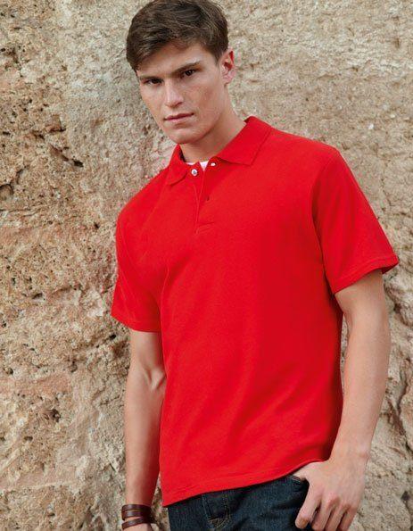 polo personalizzata uomo maniche corte rossa