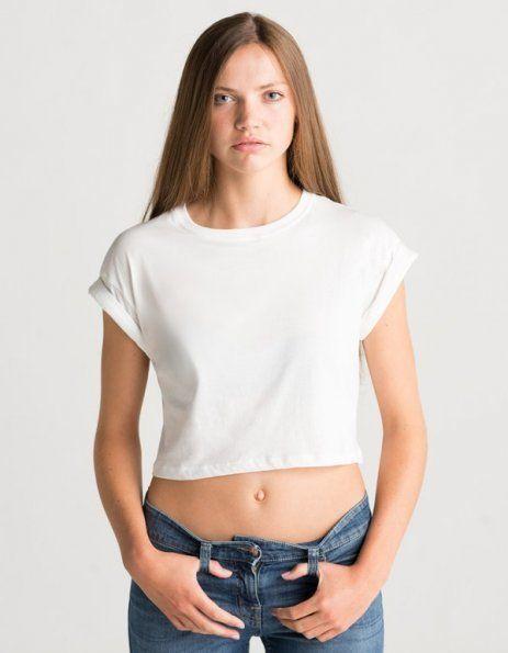 Top corto bianco personalizzato