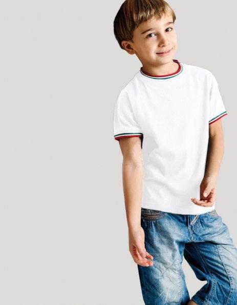 Maglietta tricolore bambino da personalizzare