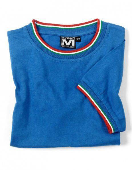 Personalizza t-shirt tricolore bambino blu royal