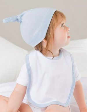 Cappellino personalizzato azzurro con nodo