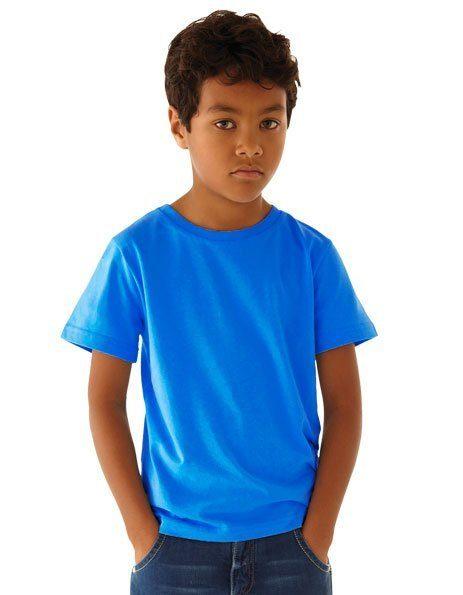 Personalizza t-shirt bio blu royal