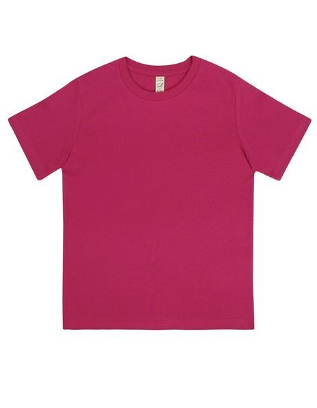 Personalizza t-shirt bio rosa lampone