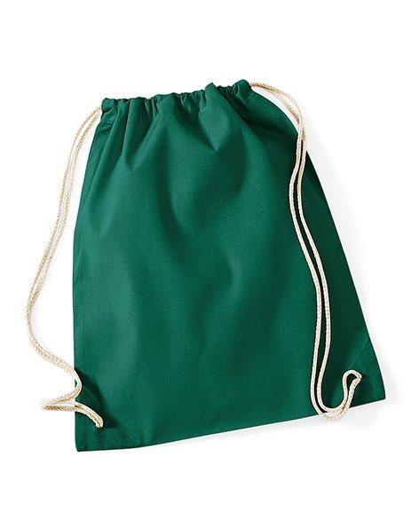 Sacca gym cotone personalizzata zaino verde