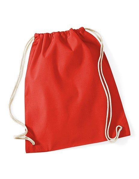 Sacca gym cotone personalizzata zaino rossa