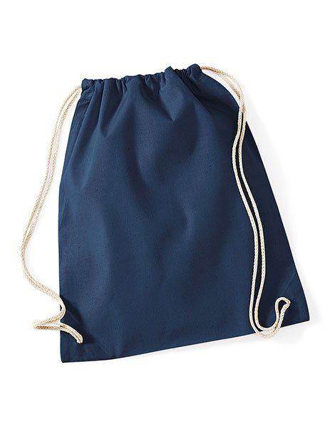 Sacca gym cotone personalizzata zaino blu