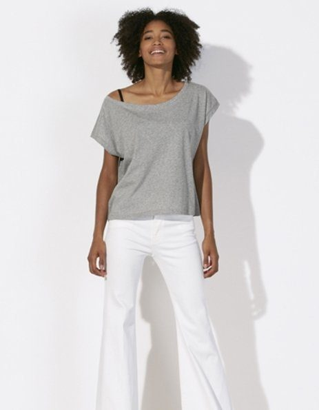 maglietta personalizzata donna oversize Stanley Stella grigio melange
