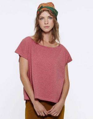 maglietta personalizzata donna oversize Stanley Stella cranberry