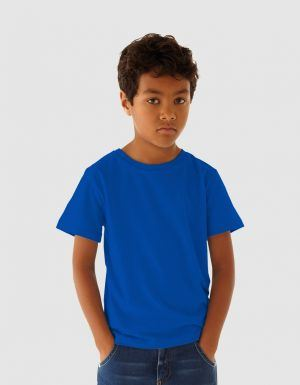 Personalizza t-shirt bio blu royal